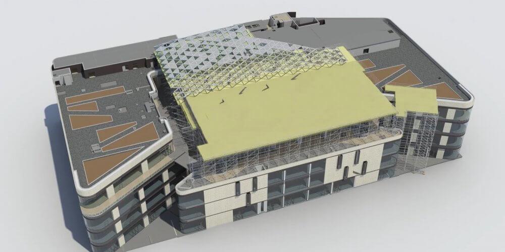 maquette 3D structure d'un bâtiment