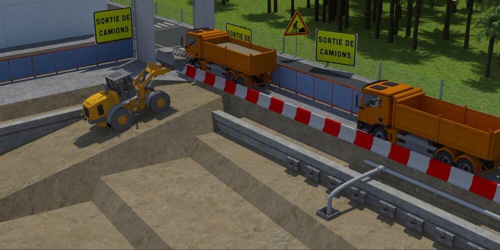 modélisation 3D d'un terrassement